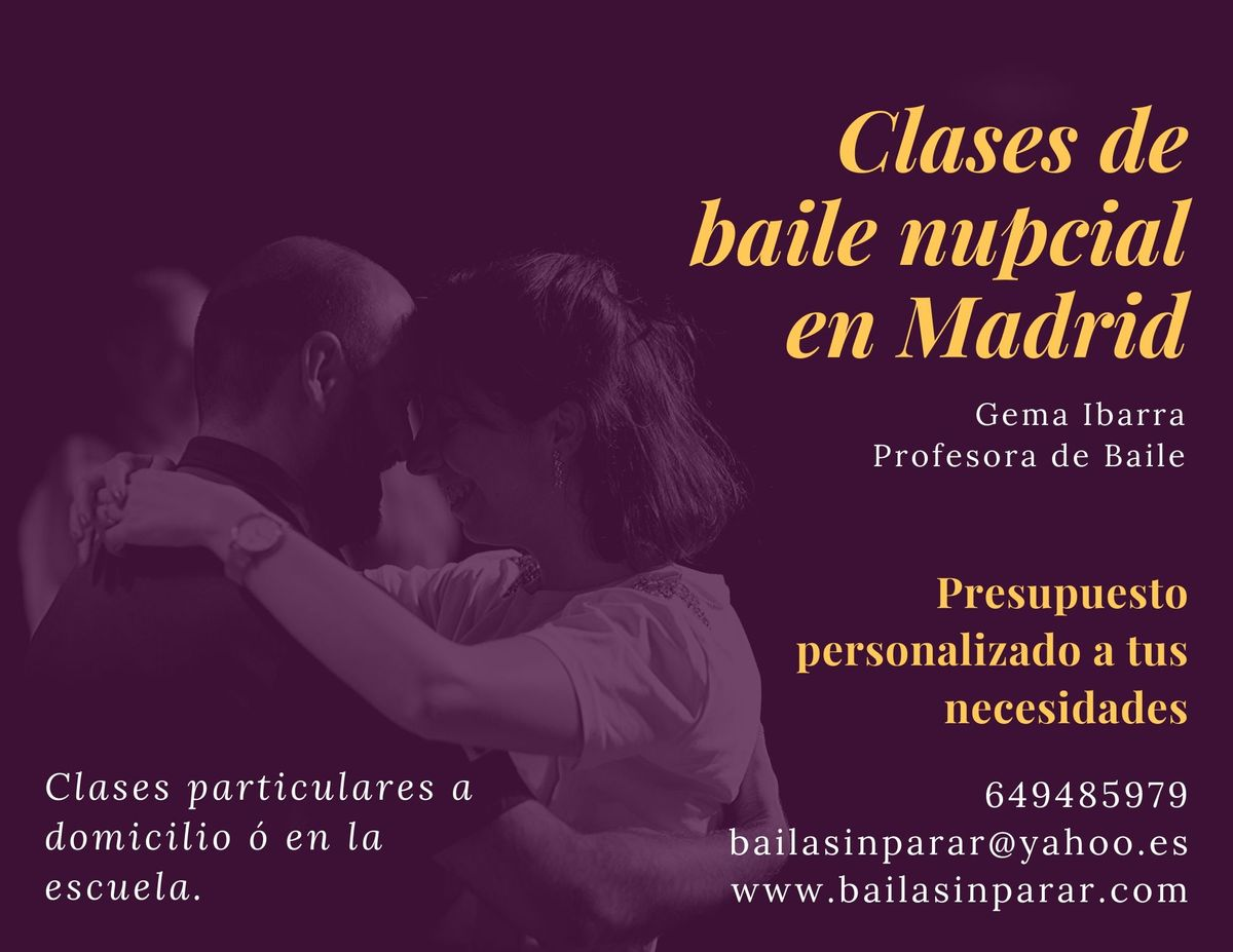 CLASES BAILE NUPCIAL 2020